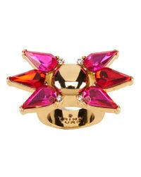 Trina Turk | Pink Sparkle And Shine Starburst Cocktail Ring | Lyst