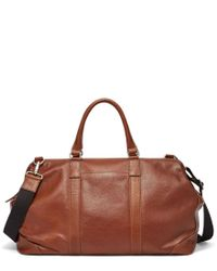 Fossil | Brown Mayfair Leather Duffle for Men | Lyst