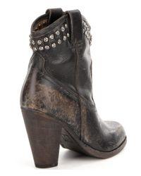 Frye | Black Jenny Cut Stud Short Boots | Lyst