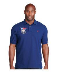 Polo Ralph Lauren | Blue Big & Tall Classic-fit Cotton Mesh Polo Shirt for Men | Lyst