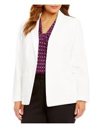 Calvin Klein | Multicolor Plus Scuba Crepe Notch Lapel Collar Jacket | Lyst