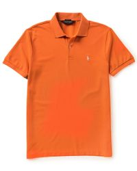 Polo Ralph Lauren | Orange Polo Golf Performance Pique Short-sleeve Solid Polo Shirt for Men | Lyst