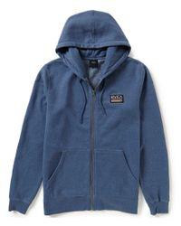RVCA | Blue Mechanics Zip-up Hoodie for Men | Lyst