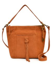 Lucky Brand | Brown Carmen Tasseled Bucket Bag | Lyst