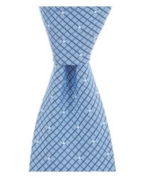 Brooks Brothers | Blue Small Polka Dot Check Traditional Silk Tie for Men | Lyst