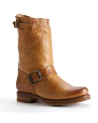Frye | Brown Veronica Leather Mid-calf Pull On Short Boots for Men | Lyst