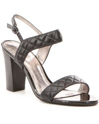 Adrianna Papell | Black Astor Quilted Sandals | Lyst