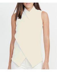 Lauren by Ralph Lauren | Multicolor Jersey Surplice Sleeveless Top | Lyst