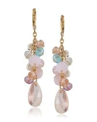 Carolee | Metallic Garden Party Cluster Linear Drop Earrings | Lyst