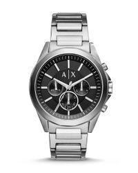 Armani Exchange - Metallic Ax Armani Exchange Drexler Chronograph Stainless Steel Bracelet Watch for Men - Lyst