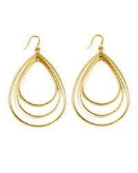 Panacea | Metallic Triple-hoop Teardrop Earrings | Lyst