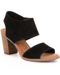 TOMS   Black Majorca Block Heel Sandals   Lyst