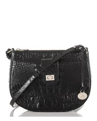 Brahmin | Black Melbourne Collection Vanessa Crocodile-embossed Cross-body Bag | Lyst