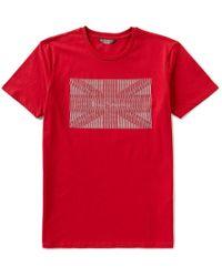 Ben Sherman | Red Ben Sherman Short-sleeve Crewneck Union Jack Graphic Tee for Men | Lyst