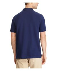 Polo Ralph Lauren - Blue Classic-fit Weathered Mesh Solid Short-sleeve Polo Shirt for Men - Lyst
