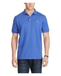 Polo Ralph Lauren   Blue Big & Tall Classic-fit Stretch Mesh Short-sleeve Polo Shirt for Men   Lyst