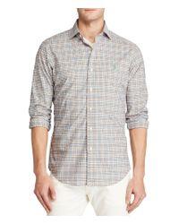Polo Ralph Lauren   Blue Plaid Poplin Estate Shirt for Men   Lyst