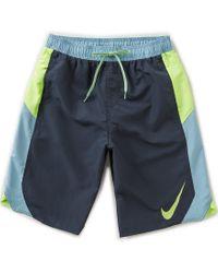 Nike | Blue Blockforce Volley Swim Trunks for Men | Lyst