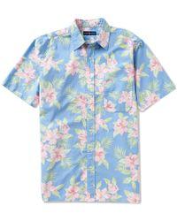 Polo Ralph Lauren | Blue Big & Tall Floral Oxford Short-sleeve Woven Shirt for Men | Lyst