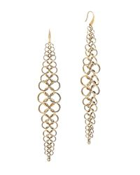 Michael Kors | Metallic Chainmail Drop Earrings | Lyst