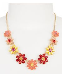kate spade new york | Multicolor Brilliant Bouquet Collar Necklace | Lyst