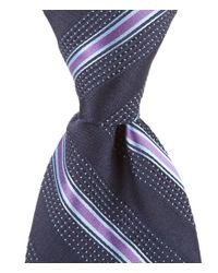 Hart Schaffner Marx   Blue Pin-stripe Traditional Silk Tie for Men   Lyst