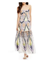 Free People | Multicolor Mojave Strapless Printed Maxi Dress | Lyst