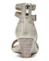 Franco Sarto - Multicolor Danissa Metallic Wedge Sandals - Lyst
