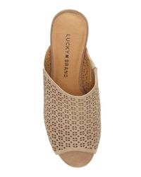 Lucky Brand - Natural Islandro2 Open Toe Mules - Lyst