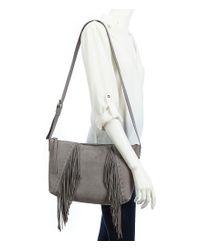 Lucky Brand - Gray Aspen Fringed Cross-body Bag - Lyst