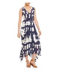 XCVI - Blue Tie Dye Kiku Dress - Lyst
