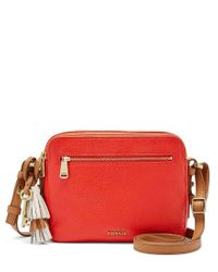 Fossil - Red Piper Tasseled Toaster Cross-body Bag - Lyst