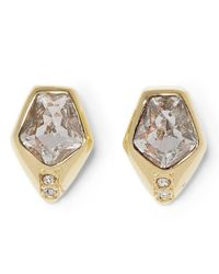 Vince Camuto | Metallic Faux-crystal Stud Earrings | Lyst