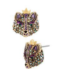 Betsey Johnson | Purple Fox Stud Earrings | Lyst