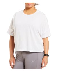 Nike - White Plus Short Sleeve Tailwind Top - Lyst