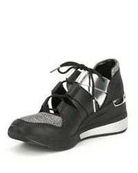 MICHAEL Michael Kors - Black Beckett Glitter Trainer Sneakers - Lyst