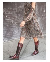Frye - Black Jayden Button Suede And Leather Tall Riding Boots - Lyst