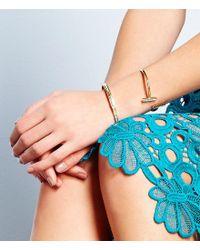 Michael Kors - Metallic Baguette Crystal Bangle Bracelet - Lyst