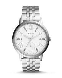 Fossil - Metallic Gazer Multifunction Stainless Steel Bracelet Watch - Lyst