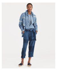 Polo Ralph Lauren - Blue Patchwork Straight-leg Utility Pants - Lyst