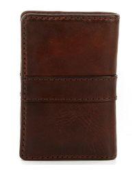 Frye - Brown Oliver Bi-fold Wallet for Men - Lyst