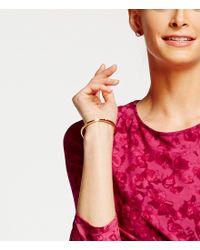 Michael Kors - Metallic Tailored Logo Plaque Hinged Bracelet - Lyst