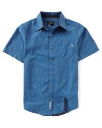 Marmot - Blue Windshear Heather Short-sleeve Woven Shirt for Men - Lyst