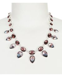Anne Klein Metallic Faceted Faux-crystal Collar Necklace