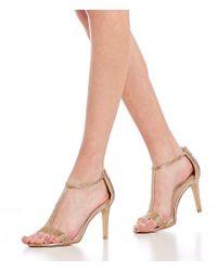 Pelle Moda - Metallic Patton 2 Satin And Rhinestone Dress Sandals - Lyst