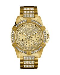Guess | Metallic Multifunction Bracelet Watch | Lyst