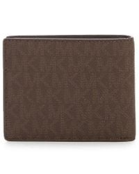 Michael Kors - Black Jet Set Logo Slim Billfold Wallet for Men - Lyst