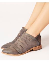 Free People Gray Lost Valley Sliced Leather Ankle Boots