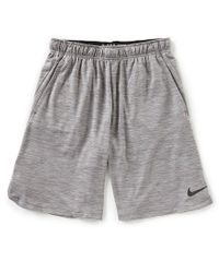 "Nike - Gray Dry Veneer Training 9"" Shorts for Men - Lyst"