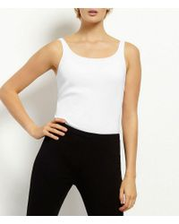 Eileen Fisher | White Petite Ribbed Organic Cotton Tank | Lyst